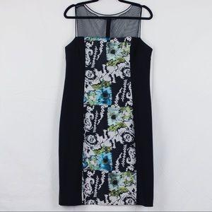 Teri Jon by Rickie Freeman Lace Illusion Dress